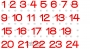 bb adventskalenderzahlen 1-24 komplett